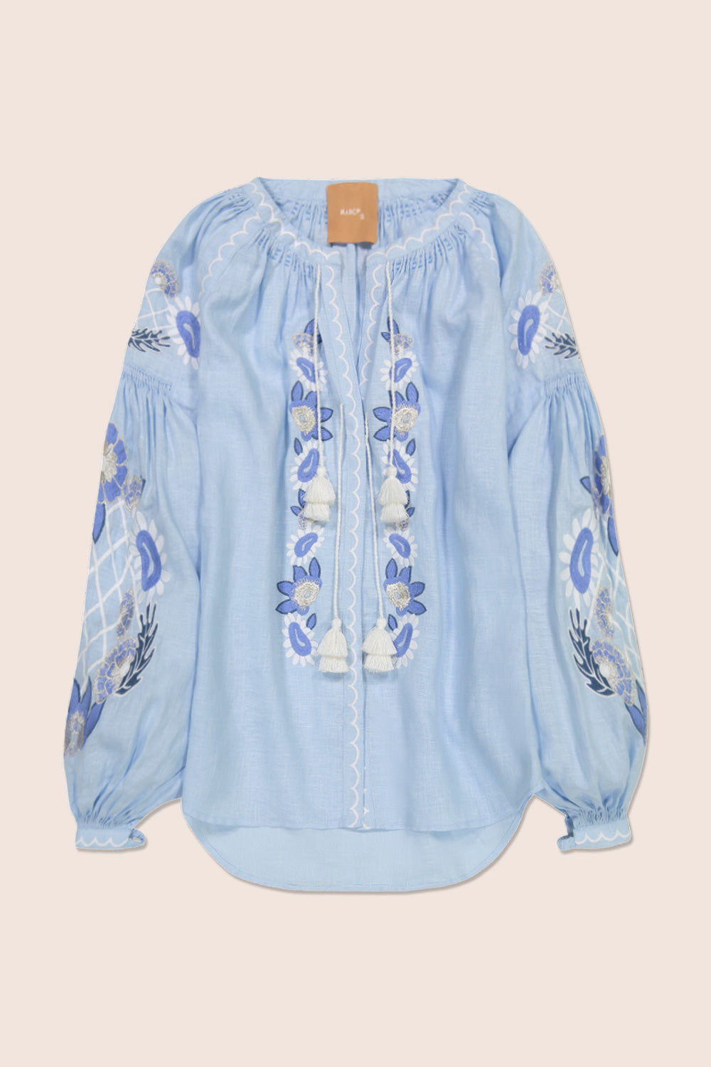 Flower Net Blouse in Blue