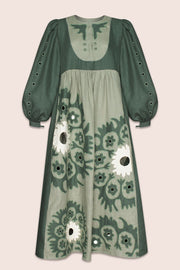 Shaima Midi Dress in Green