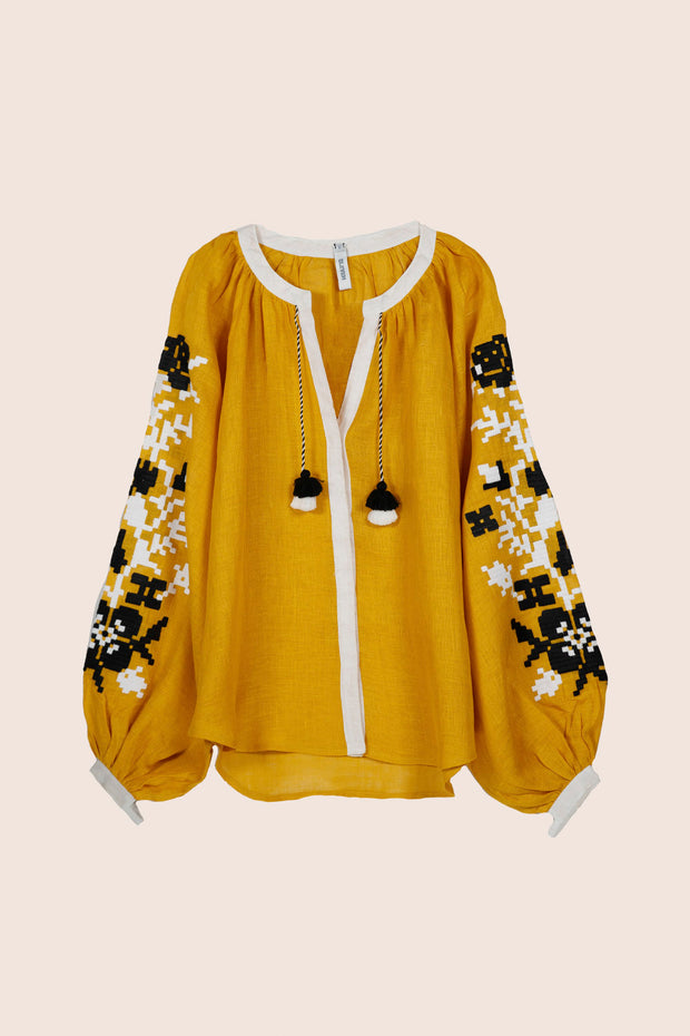 Adele Blouse in Yellow