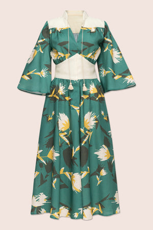 Alex Midi Dress in Green