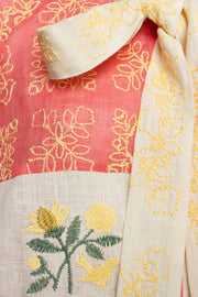 Judy Blouse in Pink and Yellow