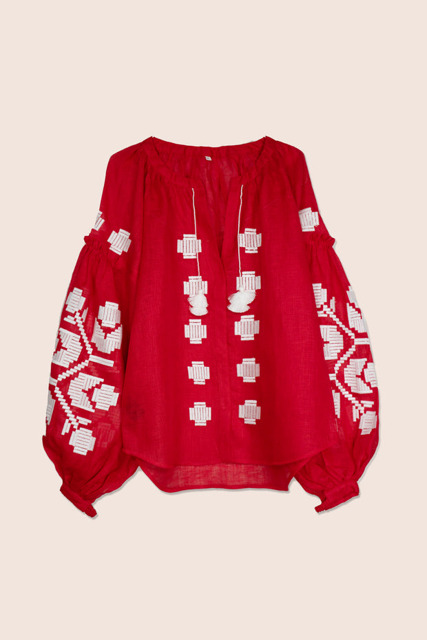 Zarina Blouse in Red