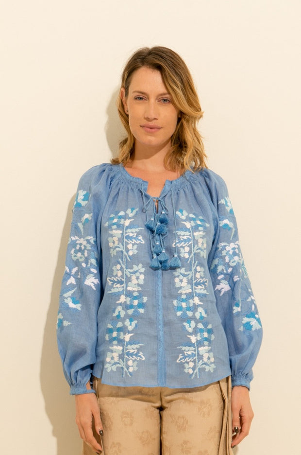 Roberta Blouse in Blue