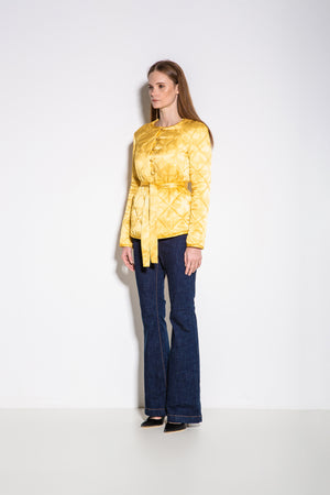 Gaudi Florals Print Jacket in Yellow