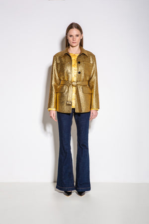 Taylor Long Jacket in Gold