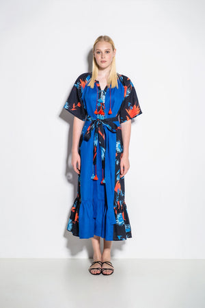 Alex+Keiko Midi Dress in Blue