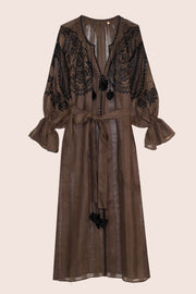 Ece Maxi Dress in Chocolate