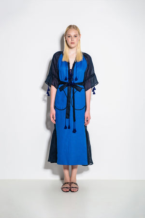 Keiko Midi Dress in Blue