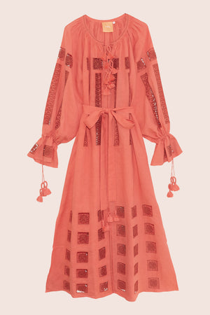 Island Star Maxi Dress in Salmon