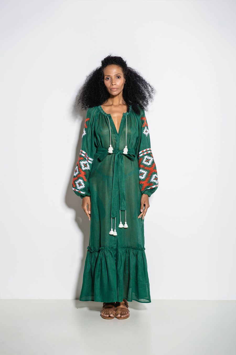 Istanbul Maxi Dress in Green