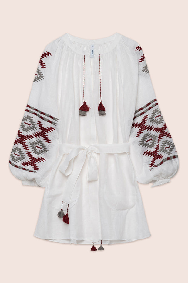 Istanbul Mini Dress in White
