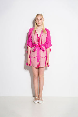 Keiko Mini Dress in Pink