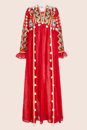 Kim Maxi Dress in Red