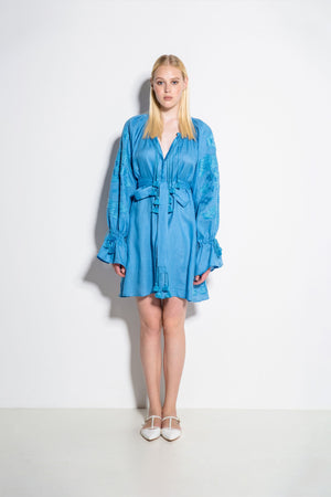 Laila Mini Dress in Blue