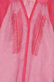 Namibia Dual Tone Blouse in Pink