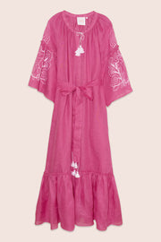 Polly Maxi Dress in Fuchsia