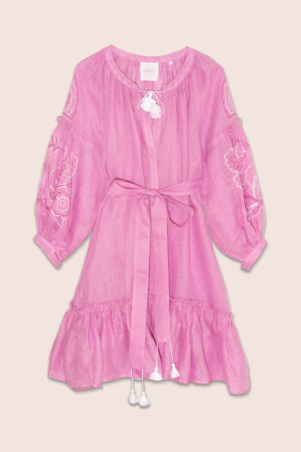 Polly Mini Dress in Pink