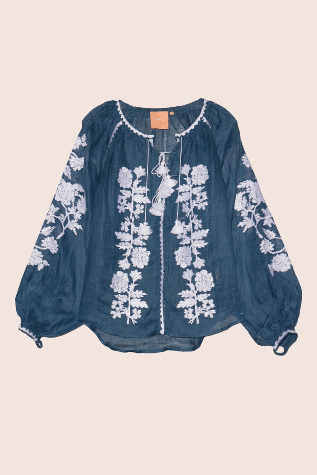 Roberta Blouse in Navy