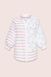 Stars And Stripes Blouse in White