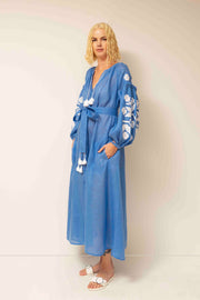 Zarina Maxi Dress in Blue