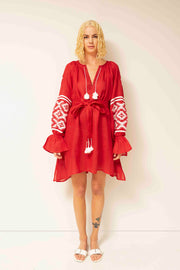 Istanbul Mini Dress in Red