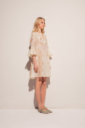 Annabell Mini Dress in Creme