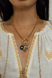 Heart Sun Bee Charm Necklace