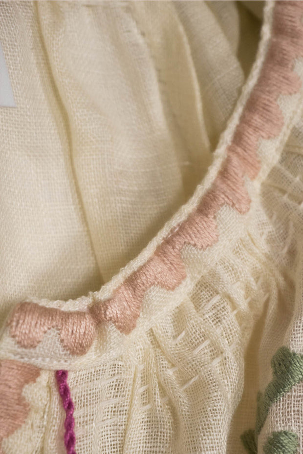 Ece Blouse in Creme Linen