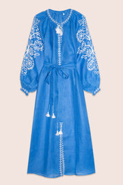 Gardenia Maxi Dress in Blue