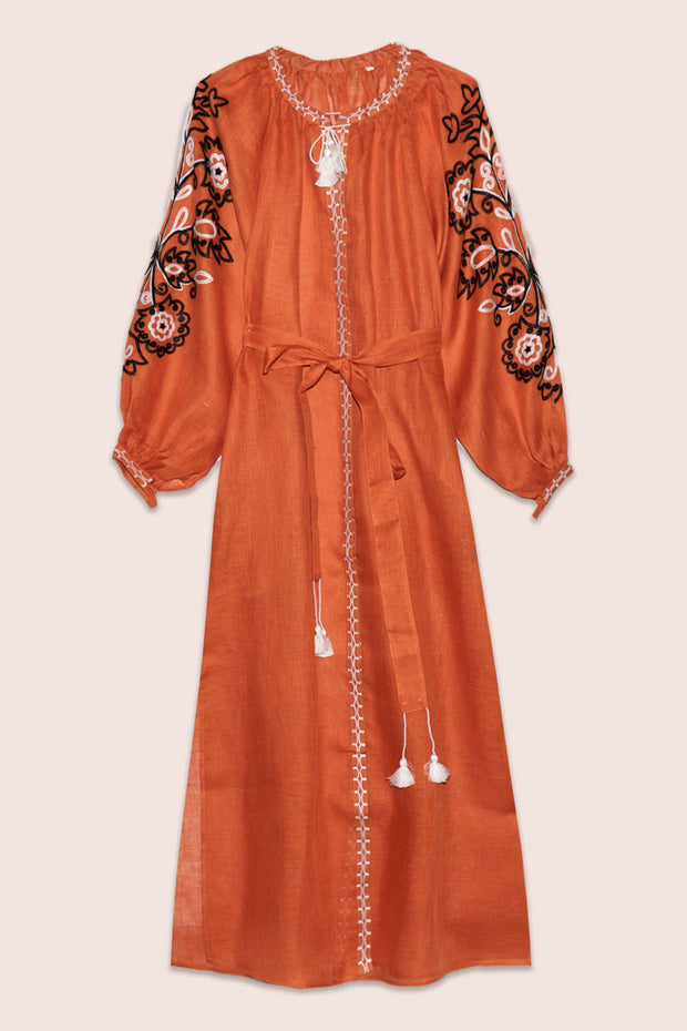 Gardenia Maxi Dress in Orange