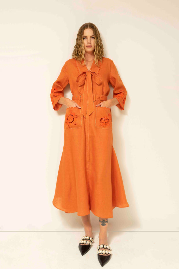 Rita Maxi Dress in Orange