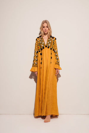 Kim Maxi Dress in Yellow