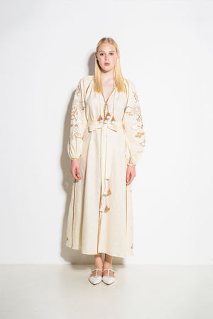 Laila Maxi Dress in Creme