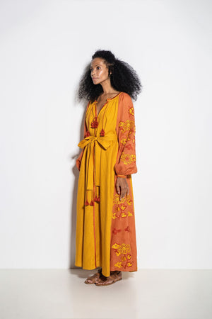 Laila Maxi Dress in Yellow