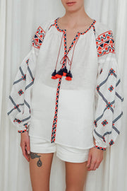 Traditional Ukrainian Blouse in White