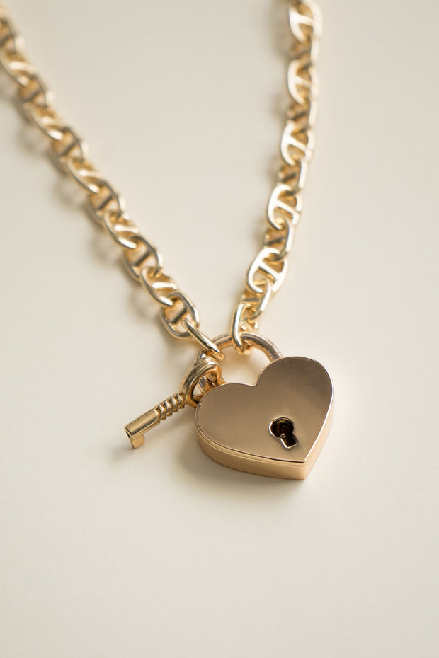 Key From My Heart Charm Necklace