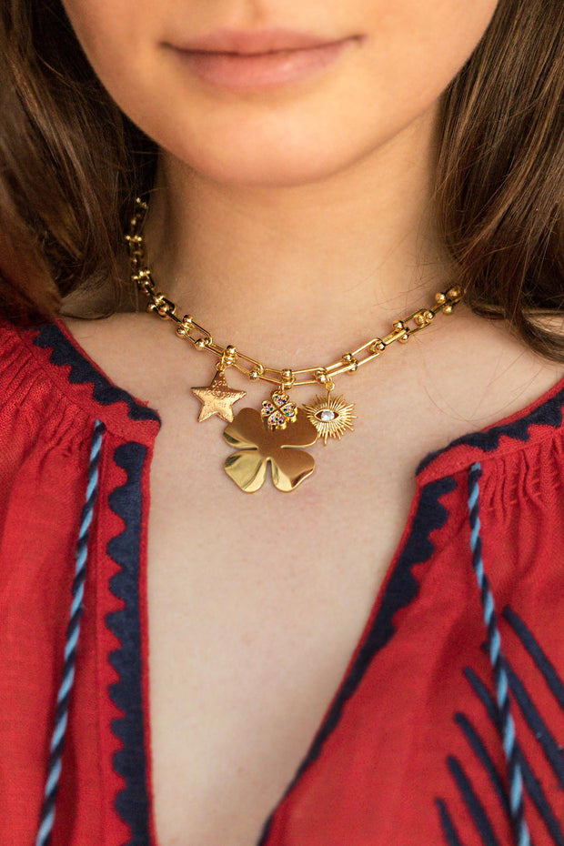 Lucky Clover Charm Necklace