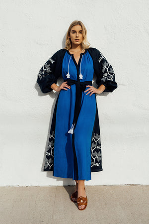 Muse Maxi Dress in Navy and Black