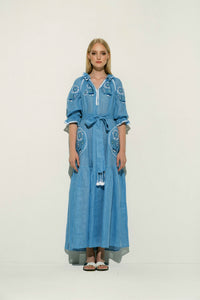 Petro Maxi Dress in Blue