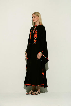 Amal Maxi Caftan in Black