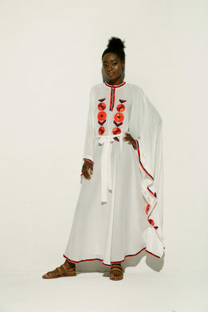Amal Maxi Caftan in White