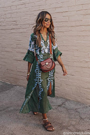 Annabell Maxi Dress in Emerald