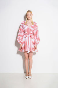 Striped Pink Mini Dress