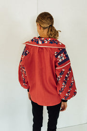 Tina Blouse in Red
