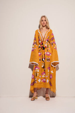Astrid Maxi Dress in Yellow
