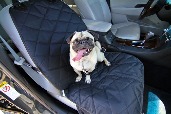 Devoted Doggy Deluxe Bucket Dog Seat Cover - Waterproof Material with Skirt - Dog Seat Belt Included - Unique Nonslip Backing with Seat Anchors