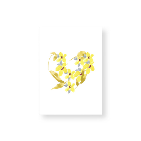 Flower Heart - Yellow