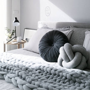 Knit Petite Knot Cushion, Free Shipping, Unique Home wears, Home Docor