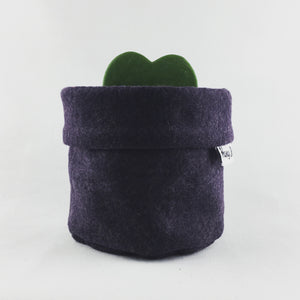 Eggplant Felt Fabric Pot - Hang It
