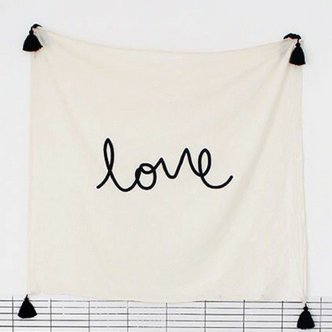 LOVE wall flag